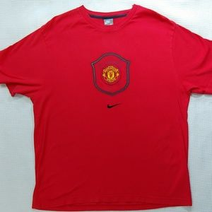Nike Manchester United Red Graphic Tee